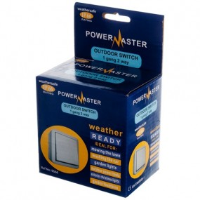 Powermaster  Outdoor Switch 1 Gang 2 Way IP66 Electrical Accessories